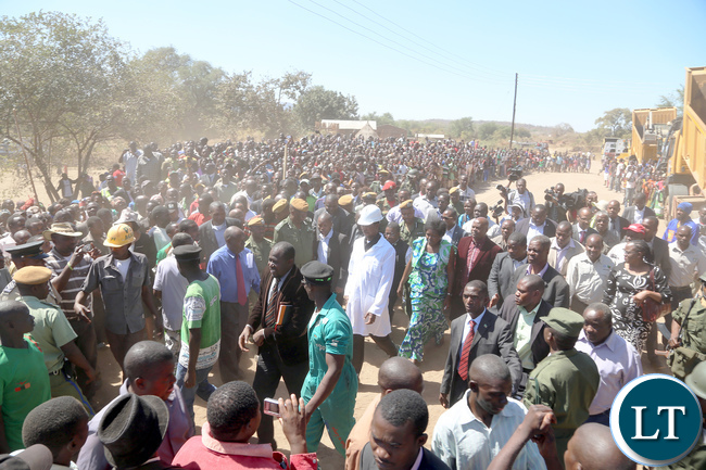 President Lungu commissions the bottom road