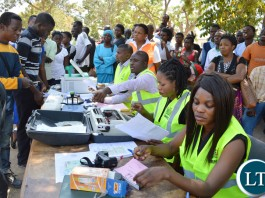 CHOMA residents register to obtain National Registration Cards (NRCs) during launch of phase-two NRC mobile registration for Southern Province