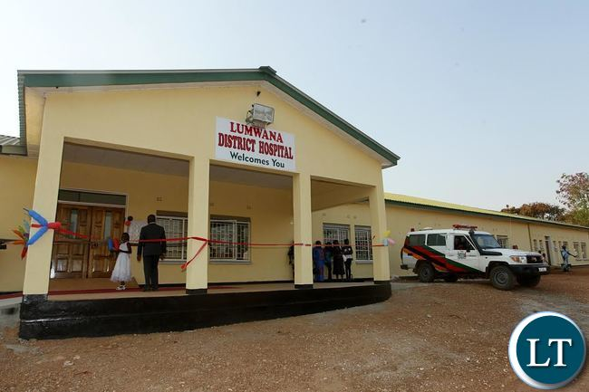 Lumwana District Hospital which President Edgar Chagwa Lungu commissioned in Solwezi West on Sunday, September 13,2015. PICTURE BY SALIM HENRY/STATE HOUSE ©2015