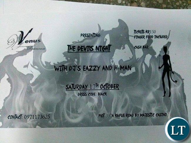 Devils Night Party poster