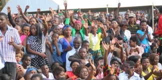 Various sector of the gathering during the National Fasting and Prayer Church Service at Lusaka Show Grounds