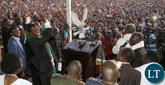 President Edgar Lungu releases a Dove at the National Prayer, Fasting & Reconciliation at the showgrounds in Lusaka.- Picture By Eddie Mwanaleza/Statehouse.