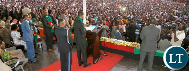 President Edgar Lungu address at the National Prayer, Fasting & Reconciliation at the showgrounds in Lusaka.- Picture By Eddie Mwanaleza/Statehouse.