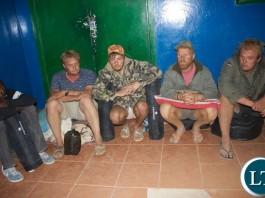 The Suspects under custody
