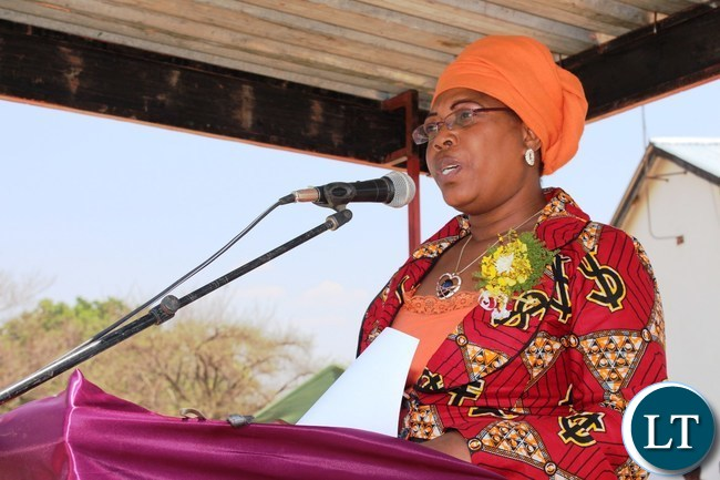 EASTERN Province Assistant Secretary, Beenzu Chukuba, delivers her speech during the graduation ceremony of nurses and midwives held at Mwami Adventist Mission Hospital in Chipata on Friday. 207 nurses and midwives from Mwami, Chipata General and Saint Francis Hospitals graduated.