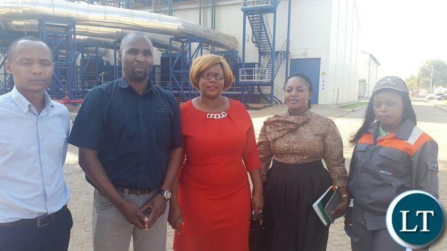 Dora Siliya at Ndola Energy