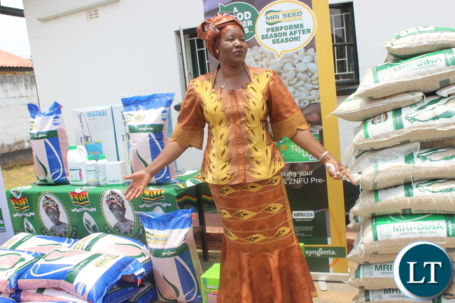 FDD President Edith Nawakwi during the Launch of the start up Programme for farmers