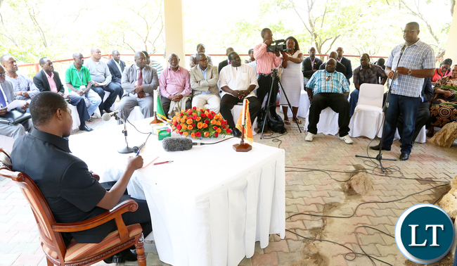 President Edgar Lungu Meets Mine Union Leaders in KItwe