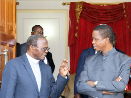 President Edgar Lungu Meets Archbishop of Lusaka Telephone Mpundu at State house in Lusaka on Monday 9th November 2015- Picture By Eddie Mwanaleza./State house.
