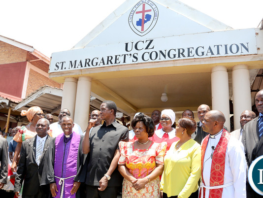 President Lungu at UCZ Church in Kitwe