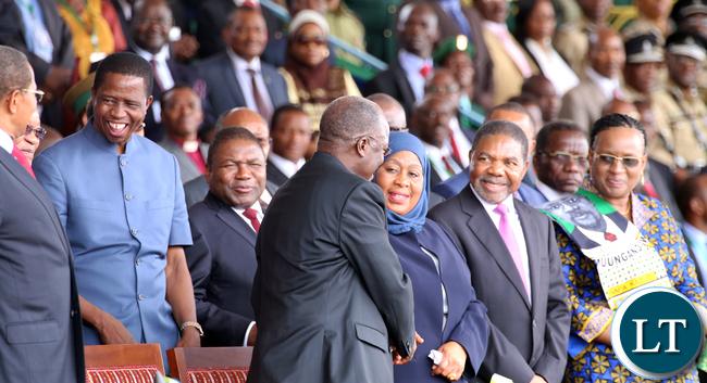 President Lungu in Tanzania 5853