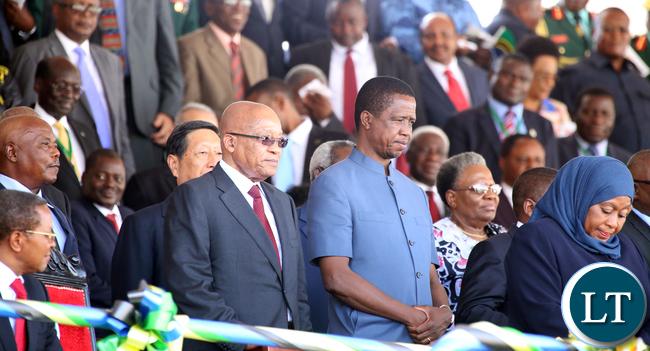 President Lungu with Jacob Zuma