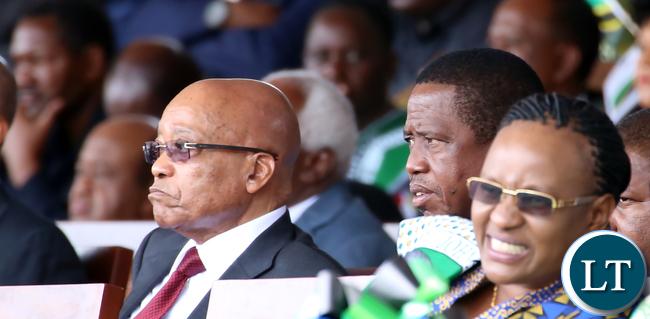 President Lungu with President jacob Zuma