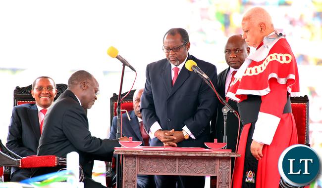 President Magufuli Being sworn in as Tanzanian President