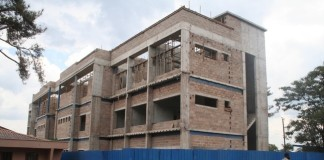 -Solwezi municipal council recently sourced K13,400 to construct a modern three storey civic centre to easy office accommodation for its workers. Above, the structure at 65 percent completion stage