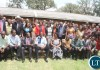 President Lungu pose for a photograph with his school mates and current Teachers when he visited his former school at Mukuba Secondary school in Kitwe on Monday, November 2,2015 -Picture by THOMAS NSAMA