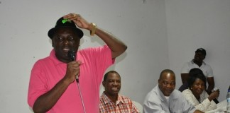Davies Chama addressing PF Members at the mobilisation meeting