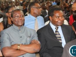 Minister of justice Ngosa Simbiyakula and HP President Party General Godfrey Miyanda
