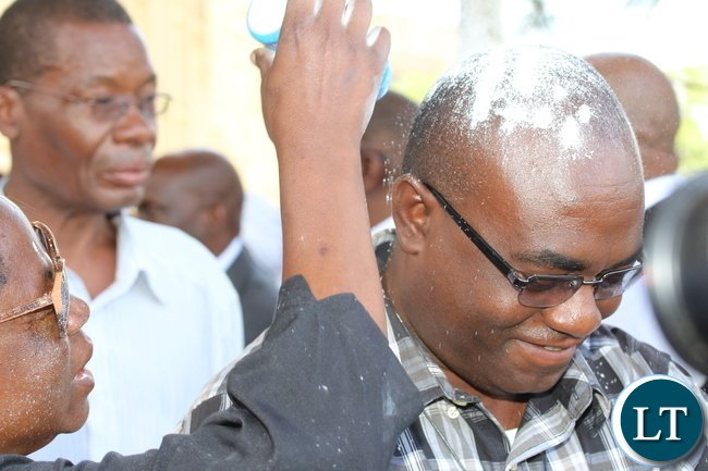 Any Ngoni identified at during the burial process of Mattipe was being showered with some white powder