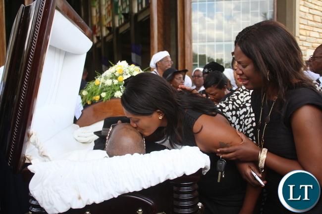 Natasha helped with Kabwe Besa bidding a farewell to her father
