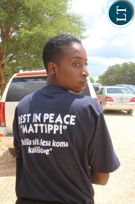 """Kulilia sibalesa manje kalililwe"""" message on a T-Shirt of one of 5 FM employees, Mattipi requested to celebrate his life rather than mourning him"""