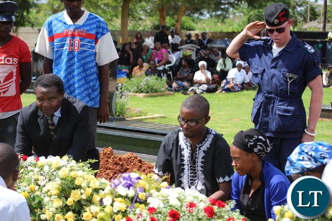 Comos Mumba with his Body Guard and Gen Miyanda