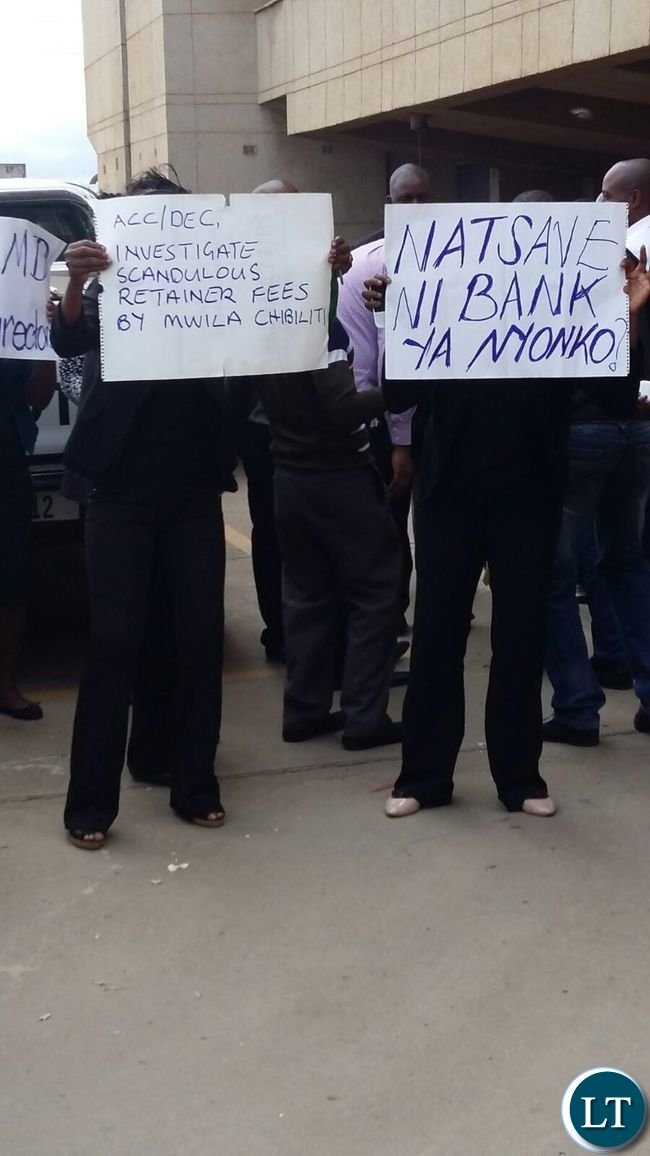 Workers at NATSAVE Protesting
