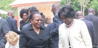 Vice President inonge Wina with Chief Justice Ireen Mambilima