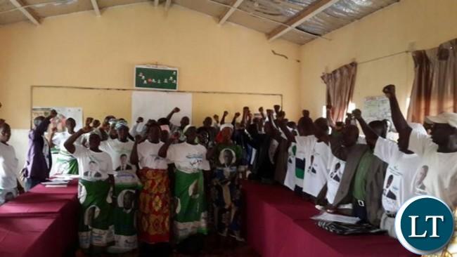 Patriotic Front indoor Meeting in Vubwi