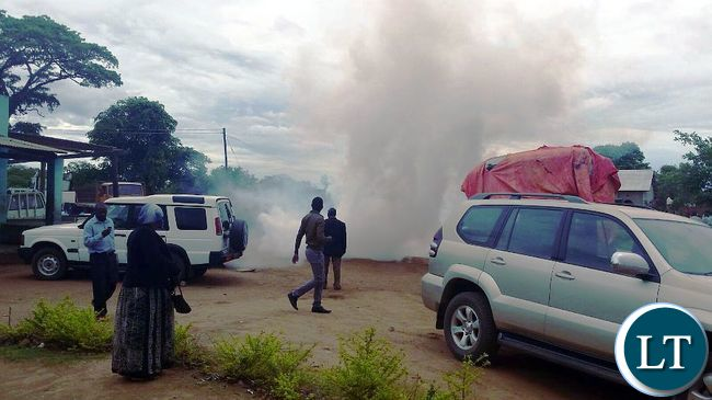 Teargas canisters thrown by Police