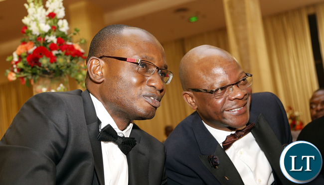 Amos Chanda with Anthony Mukwita