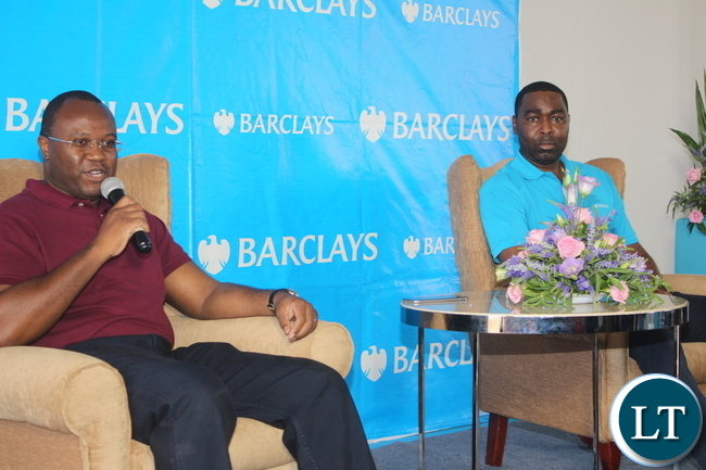 BBZ CEO Saviour Chibiya introducing the guest Andy Cole to BBZ employees