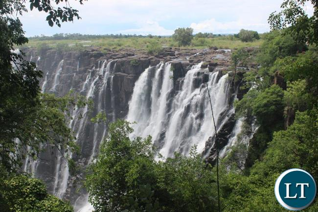 After months of experiencing a dry spell, Victoria Falls in Livingstone now has some water flowing