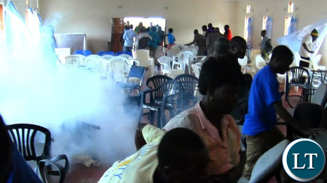 FILE: MMD members escaping tear gas at a meeting