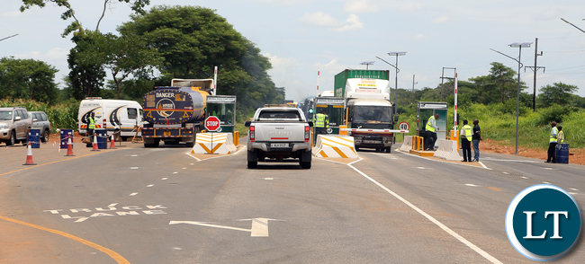 National Roads Fund Toll Gates at Kafulafuta