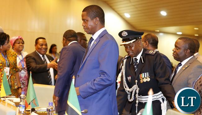 President Edgar Lungu at NEPAD Summit  in Addis Ababa