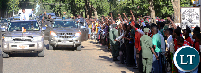 President Lungu at Mazabuka