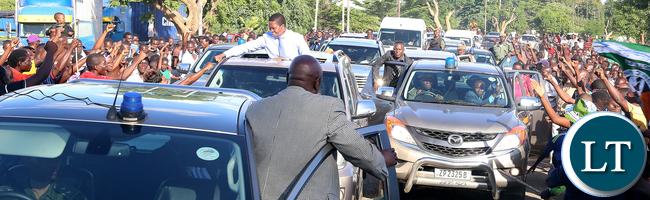 President Lungu in Mazabuka