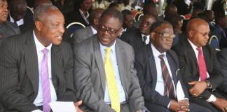 High Court and Supreme Court Judges during assenting to the Constitutional Amendment Bill ceremony at Heroes Stadium on Tuesday, January 5,2016 -Pictures by THOMAS NSAMA