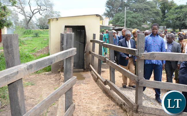 President Lungu officially launch the Mother's shelter at Namwala District Hospital