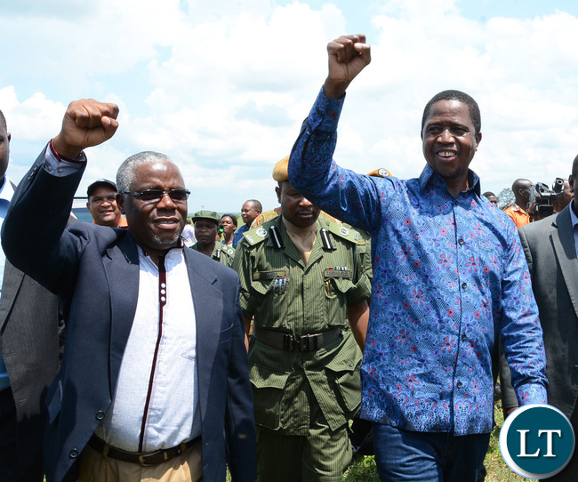 The Ila traditional dance welcomes President Edgar Lungu in Namwala