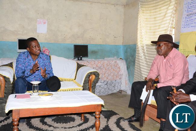 President Lungu speaks to chief Hamusonda in Bweengwa