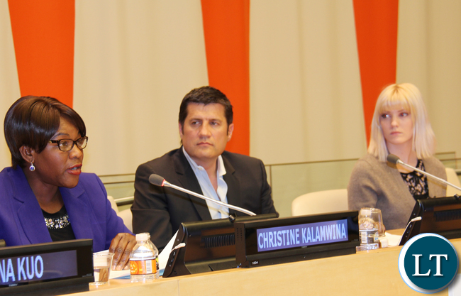 Christine Kalamwina - Zambia's Deputy Permanent Representative to UN