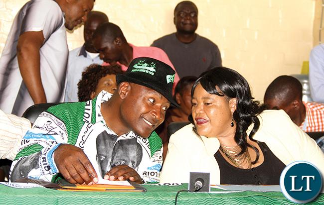 Frank Bwalya and his Deputy