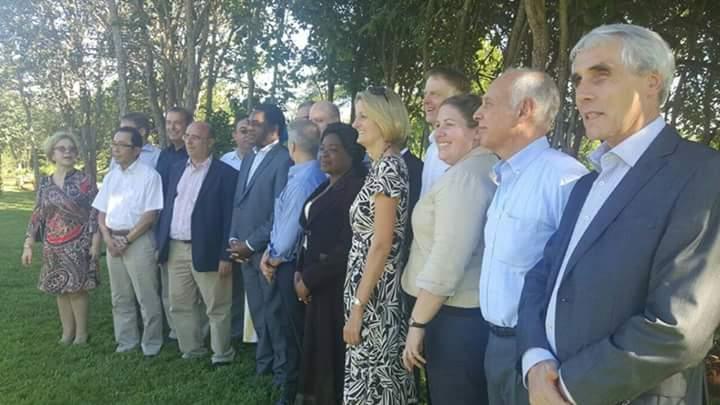 HH poses with diplomats at his New Kasama residence