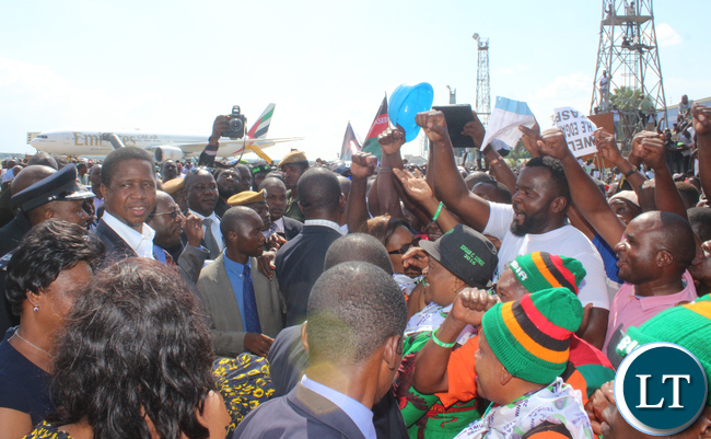 President Lungu mingles with Party cadres