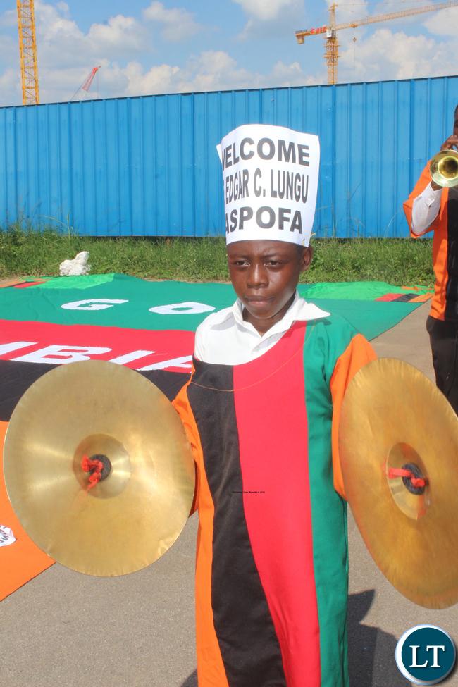 A member of ZASPOFA brass band