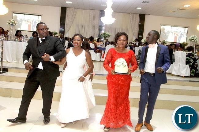 Zambia Army Lt Gen Paul Mihova's son Kayombo and Lucy Kalimanshi –Mihova's Wedding