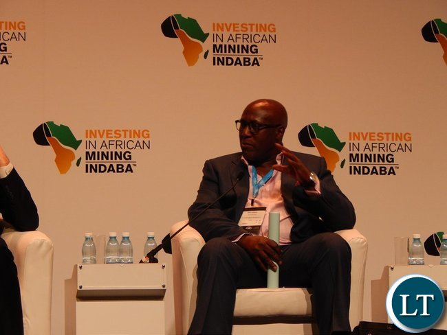 Dr. Pius Kasolo during a panel discussion