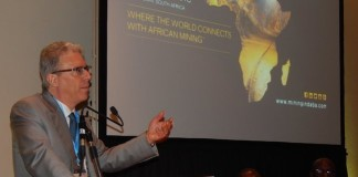 Mr. Albanese making his presentation at the Country Case Study on Zambia session at the 2016 Mining Conference in Cape Town on 10th February
